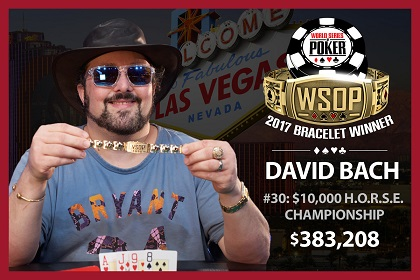 2017 WSOP: David Bach wins 10K H.O.R.S.E. and first double-bracelet winner in 2017