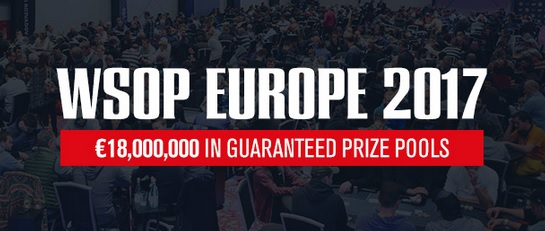 WSOP Europe: 2017 Bracelet Winners