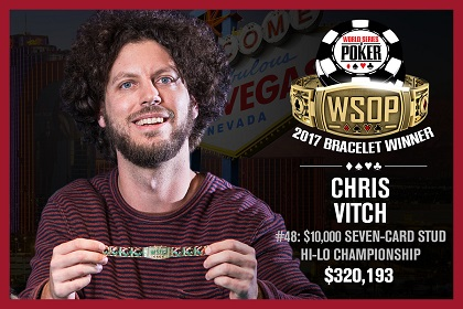 2017 WSOP: Chris Vitch fades stacked Stud 8 field to win bracelet