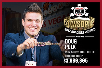 2017 WSOP: Doug Polk wins $111,111 ONE DROP HIGH ROLLER and Jesse Martin wins another bracelet