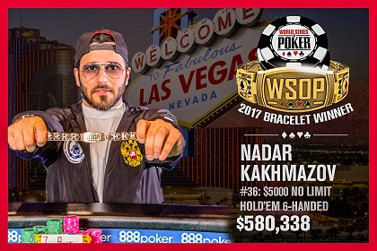2017 WSOP: Nadar Kakhmazov, Thomas Reynolds, and Joe McKeehen win bracelets