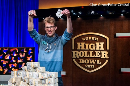 Christoph Vogelsang wins $6 million and the 2017 Super High Roller Bowl