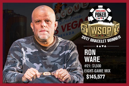 2017 WSOP: Ron 'Grumpy' Ware wins 8-Game Mixed bracelet