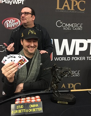2017 LAPC: Phil Hellmuth beats Mike Matusow heads-up to win O8/Stud8