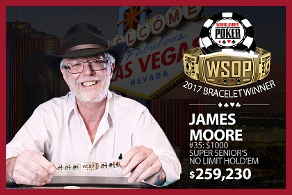 2017 WSOP: Back-to-Back Super Seniors titles for James Moore