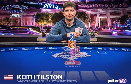 Keith Tilston wins U.S. Poker Open Main Event