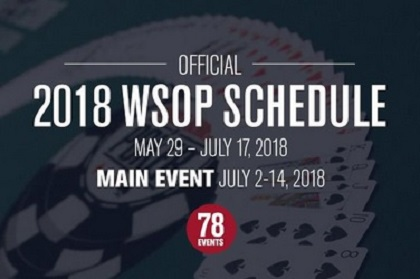 2018 WSOP Schedule officially released
