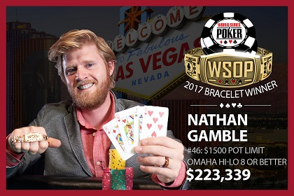 2017 WSOP: Nathan Gamble wins first bracelet