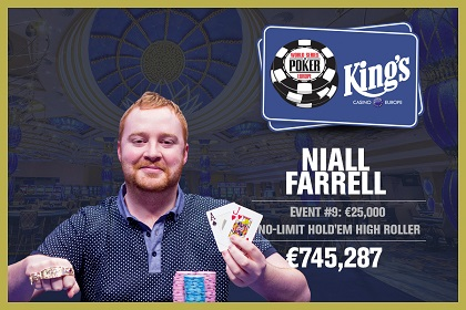 WSOP Europe: Niall Farrell wins €25K High Roller and Matous Skorepa binks The COLOSSUS