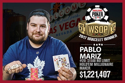 2017 WSOP: Pablo Mariz wins Milly Maker