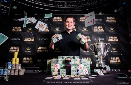 Toby Lewis wins Aussie Millions Main Event for $1.4 million (AUD)