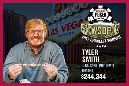 2017 WSOP: Tyler Smith wins PLO bracelet
