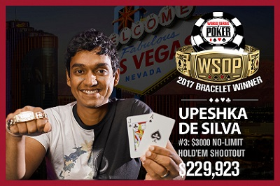 2017 WSOP: Upeshka De Silva and Ben Zamani win second-career bracelets