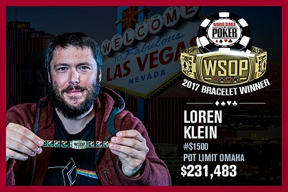 2017 WSOP: Loren Klein and Dmitry Yurasov win bracelets