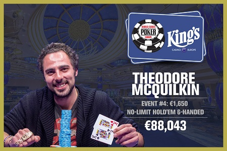 WSOP Europe: France's Theodore McQuilkin wins Event #4 €1,650 NL 6-Handed
