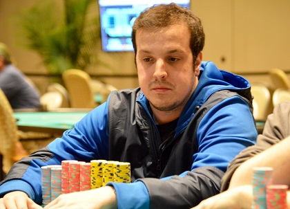 Zach Gruneberg with massive lead at WPT Borgata Winter Poker Open final table