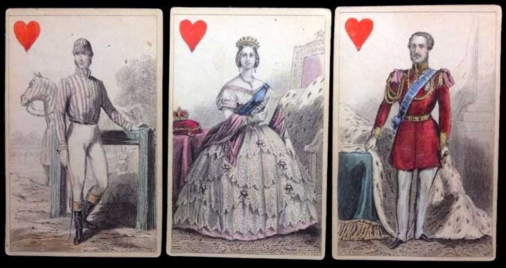 1858 Napoleon Imperial & Royal playing cards