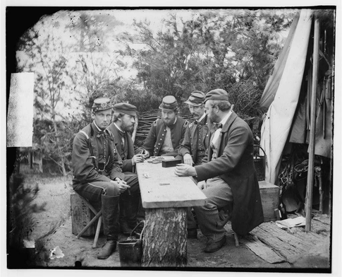 Civil War Poker Players