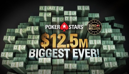 PokerStars Sunday Million celebrates 14 year anniversary with $12.5 Million guarantee