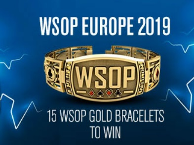 Updated 2019 WSOP Europe schedule