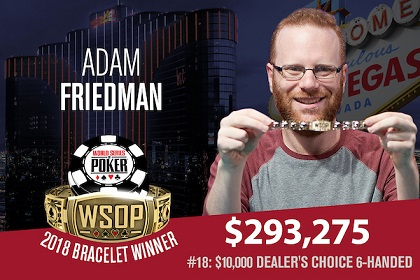 2018 WSOP: Adam Friedman and Ognyan Dimov win bracelets
