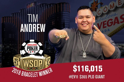 2018 WSOP: Tim Andrew wins PLO GIANT