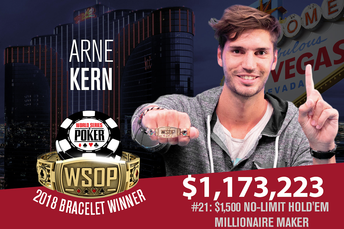 2018 WSOP: Arne Kern wins Milly Maker