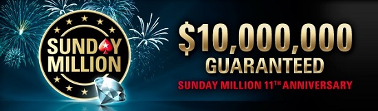 PokerStars Sunday Million 11th anniversary this weekend