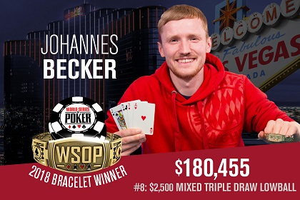 2018 WSOP: Johannes Becker wins first bracelet