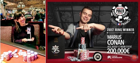 Kristen Bicknell wins Bellagio 5K and Marius Conan wins WSOP Circuit Paris
