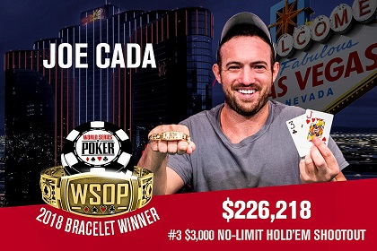 2018 WSOP: Joe Cada wins third bracelet