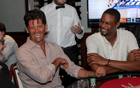 Chris Bosh and ex-NBA stars help raise $500,000 in All-in for All-Stars charity poker tournament