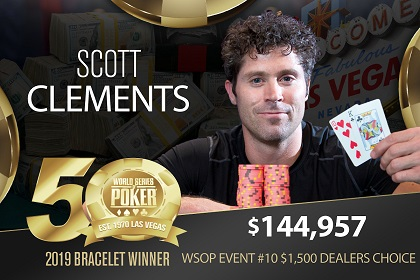 2019 WSOP: Scott Clements ships Dealer's Choice, Jeremy Pekarek wins Deepstack