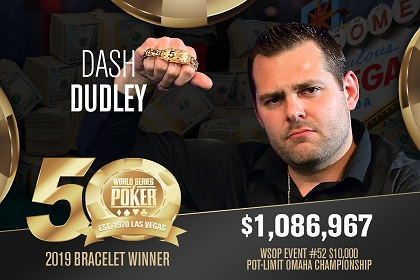 2019 WSOP: Dash Dudley, Kevin Gerhart, and Santiago Soriano win first bracelets