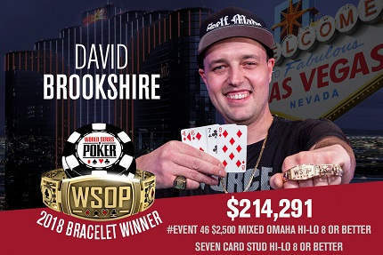 2018 WSOP: David Brookshire wins Mixed Omaha 8/Stud 8
