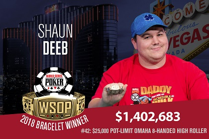 2018 WSOP: Shaun Deeb wins $25K PLO High Roller and third bracelet