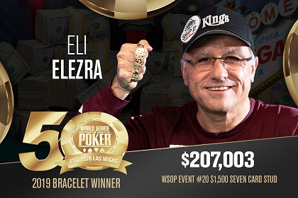 2019 WSOP: Eli Elezra wins 4th bracelet and Josh 'loofa' Pollock wins online PLO
