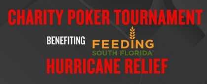 Seminole Hard Rock Hollywood charity tournament for Hurricane Irma victims on October 3