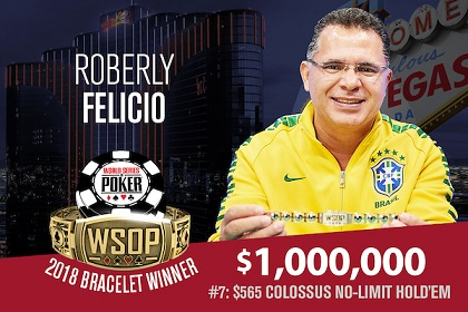 2018 WSOP: Daniel Ospina and Roberly Felicio win bracelets
