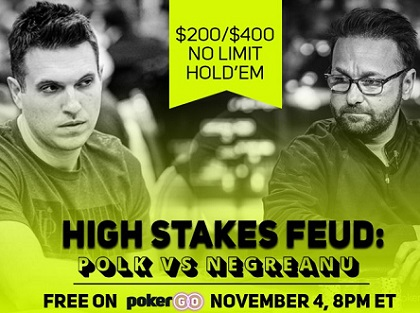 Polk/Negreanu High Stakes Feud begins November 4