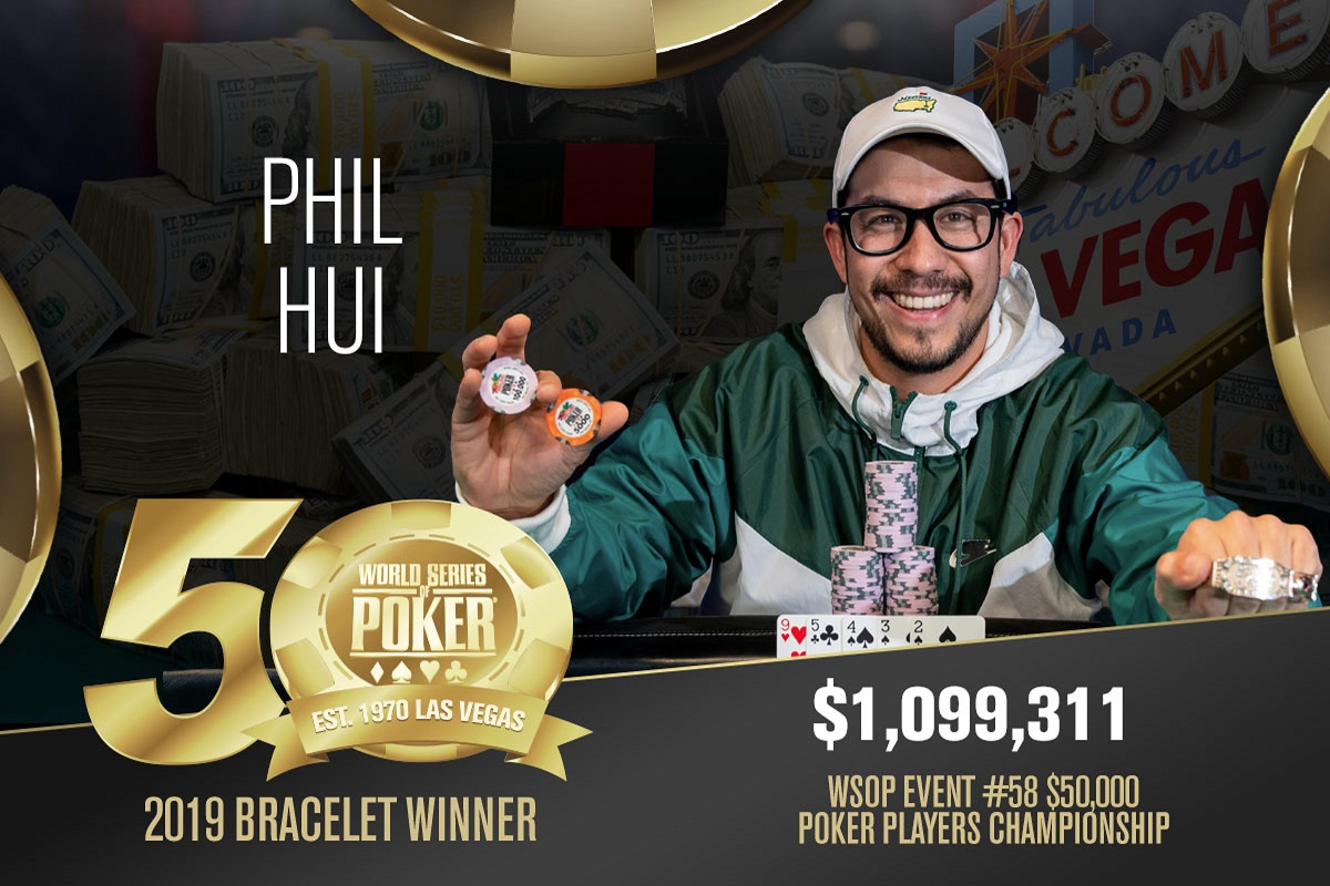 2019 WSOP: Philip Hui wins $50K Poker Players Championship, Anthony Zinno wins PLO8 bling