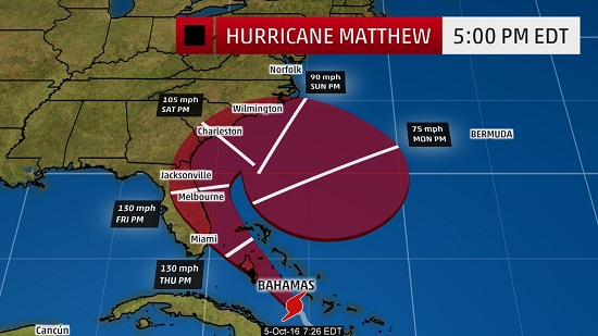 Hurricane Matthew: Florida evacuations, casino closings, and poker cancellations