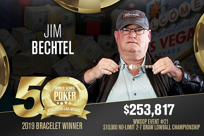 2019 WSOP: Jim Bechtel wins 2nd bracelet 26 years after winning 1993 Main Event
