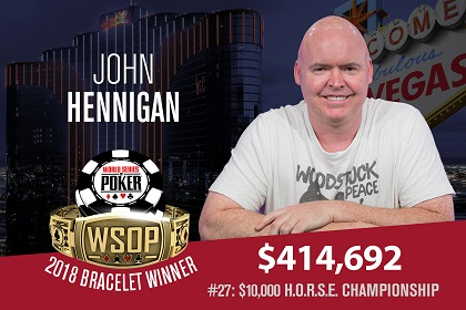 2018 WSOP: Johnny World Hennigan wins 5th bracelet