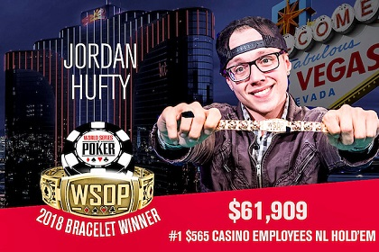 2018 WSOP: Elio Fox and Jordan Hufty win bracelets