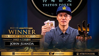 John Juanda and Rui Cao win Triton Super High Roller events in Montenegro