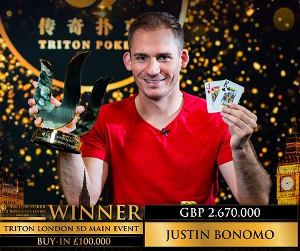 Justin Bonomo wins 2019 Triton London Short Deck Main Event