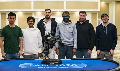 Balakrishna Patur leads 2020 WPT LAPC Final table