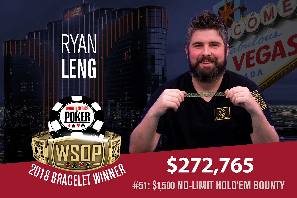 2018 WSOP: Ryan Leng and Joey Couden win bracelets