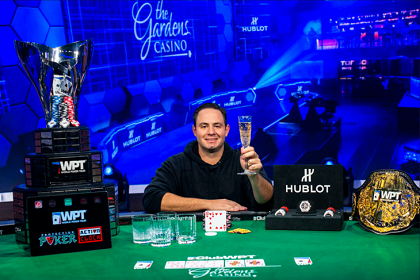 Markus Gonsalves Finally Wins Delayed WPT Gardens Poker Championship